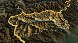 Valle Daosta - autonomous region of Italy. Physical Animation