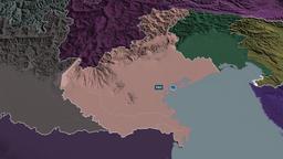 Veneto - region of Italy. Administrative Animation
