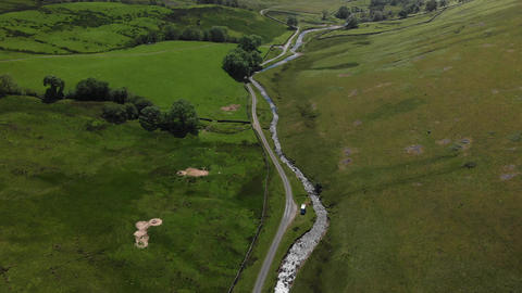 An aerial shot looking down into the Barbon Beck Valley 1 (V366) Live Action