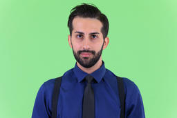 Face of young handsome bearded Persian businessman Photo