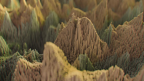 4K Abstract Topographic Noise Patterns Footage