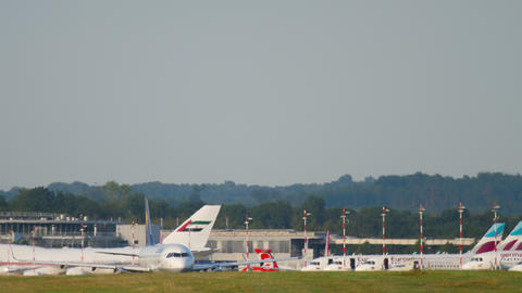 Airplane taxiing before departure Footage