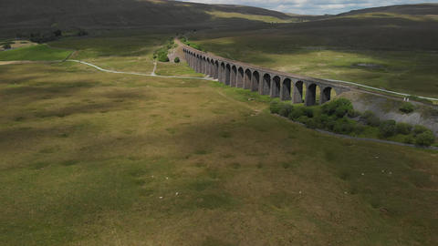 Static shot of the Ribblehead Viaduct (V410) Footage