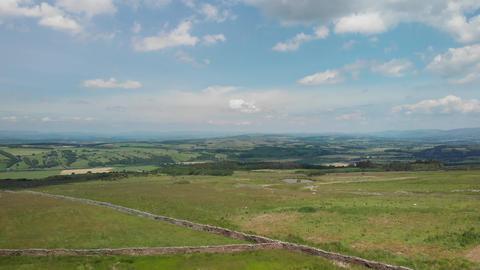 Ascending aerial shot on Caton Moor (V411) Live Action