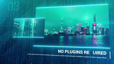 Cyber - Sci-Fi Slideshow After Effects Templates