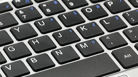 Laptop macro keyboard keys 4k Live Action