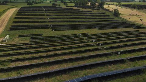 Flying over solar panels (V442) Live Action