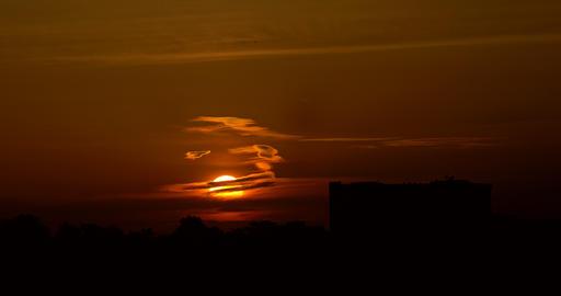 Timelapse Of Beautiful Orange Sunset Footage