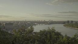 Kiev, Ukraine. City landscape: the River Dnepr day Footage