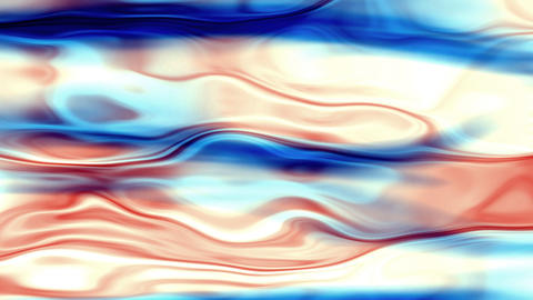 Water Blue And Red Waves Slowly Moving Backgound Stock Video Footage