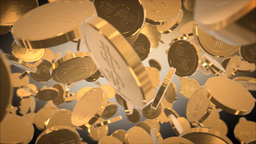 Flaying golden moneys Animation