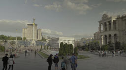 People in the center of Kiev (Kyiv) . Ukraine. The center of the city Footage