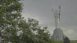 """The monument in the center of Kiev (Kyiv). The Monument """"Motherland"""". Ukraine Footage"""