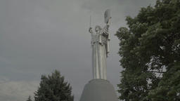 "Symbol of Ukraine : the monument ""Motherland"" in Kiev (Kyiv) Footage"