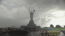 """Memorial to the fallen of the second world war. The monument """"Motherland"""" Footage"""