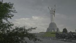 "Kiev (Kyiv). Ukraine. The symbol of the city: the Monument ""Motherland "" Footage"