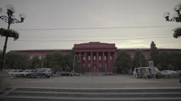 The symbol of Kiev. Ukraine. The building of the National University Footage