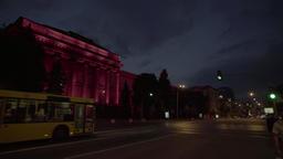 Kiev (Kyiv) night . Ukraine. National University named after Taras Shevchenko Footage