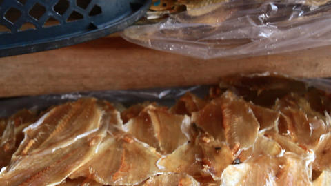 Dried fish at the market Live-Action