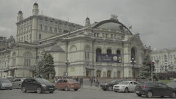 Kiev (Kyiv) , Ukraine. The city center in the afternoon. The National Opera Footage