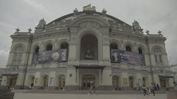 Kiev (Kyiv) , Ukraine. The National Opera Of Ukraine . Timelapse Footage