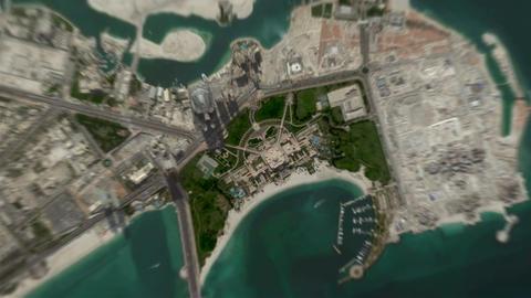 4K Earth Zoom: Abu Dhabi – United Arab Emirates Animation