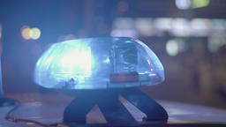 Close-up of flashing emergency lights ビデオ