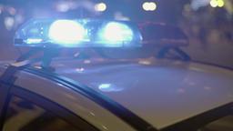 Flashing police lights ビデオ