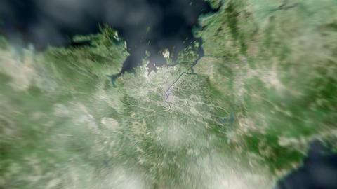 4K Earth Zoom: Seoul – South Korea Animation