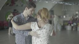 Tango dancing (milonga) performed by pairs Footage