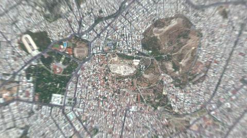 4K Earth Zoom: Athens – Greece Animation