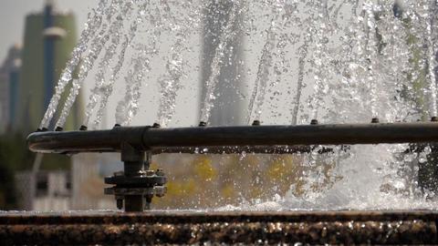 Fountain in Nur-Sultan, capital of Kazakhstan Footage