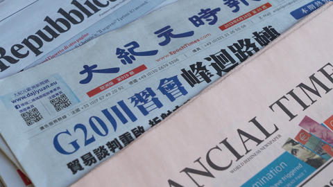 Some international newspapers ライブ動画