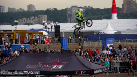 Motofreestyle - jumps with incredible acrobatic elements Footage