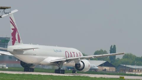 Qatar Airways Cargo departure Footage