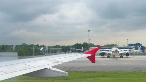 Terminal Four in Changi Airport Footage
