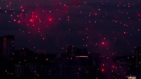 Beautiful firework at evening sky Footage