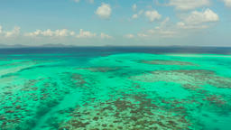 Tropical landscape with lagoons and tropical islands. Balabac, Palawan Footage