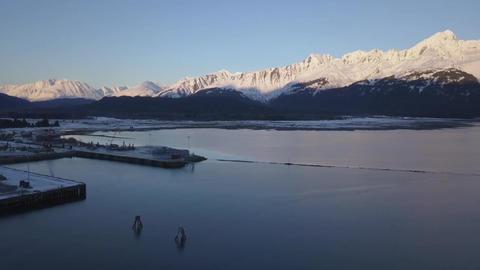 Winter trip across the bay Footage