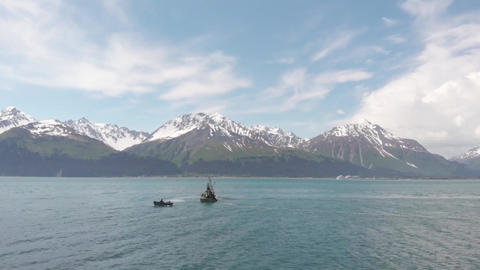 Salmon fishermen in Alaska Footage