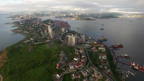 Aerial View Of The Urban Landscape. Vladivostok Footage