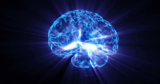 AI Artificial intelligence digital brain bid data deep learning computer machine Footage