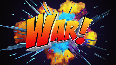 Amazing explosion animation with text Animation