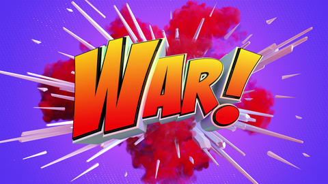 Amazing explosion animation with text Videos animados