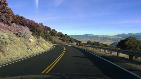 point-of-view driving in California's Yosemite National Park Footage