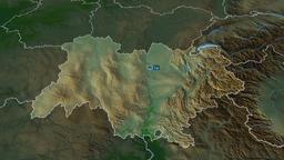 Auvergne-Rhone-Alpes - region of France. Physical Animation