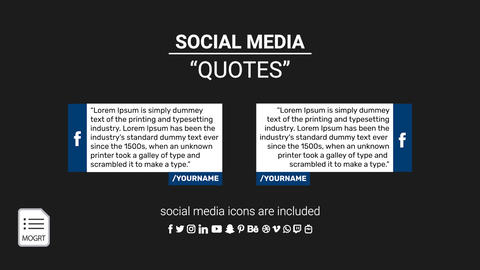 Quotes Template with Social Media Logo Motion Graphics Template