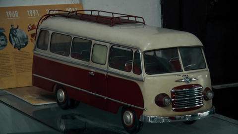 A small toy from an old retro van Footage