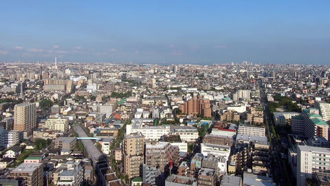 Tokyo cityscape and blue sky Footage
