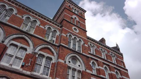 Historical brick building in Cork, Ireland Footage